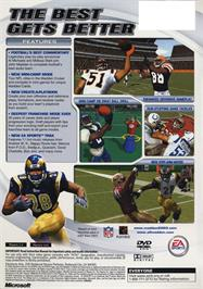 Box back cover for Madden NFL 2003 on the Microsoft Xbox.
