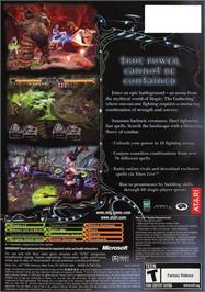 Box back cover for Magic the Gathering - Battlegrounds on the Microsoft Xbox.
