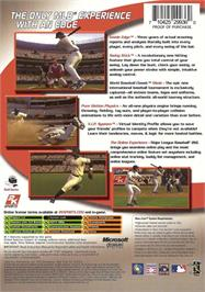 Box back cover for Major League Baseball 2K6 on the Microsoft Xbox.