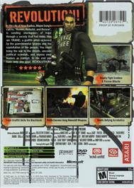 Box back cover for Marc Ecko's Getting Up: Contents Under Pressure (Limited Edition) on the Microsoft Xbox.