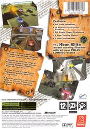 Box back cover for Mashed: Drive to Survive on the Microsoft Xbox.