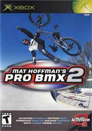 Box back cover for Mat Hoffman's Pro BMX 2 on the Microsoft Xbox.