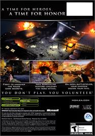 Box back cover for Medal of Honor: European Assault on the Microsoft Xbox.