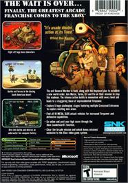 Box back cover for Metal Slug 3 on the Microsoft Xbox.