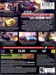 Box back cover for Midnight Club 3: DUB Edition Remix on the Microsoft Xbox.