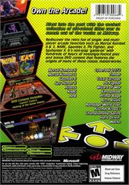 Box back cover for Midway Arcade Treasures 2 on the Microsoft Xbox.