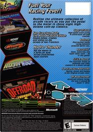 Box back cover for Midway Arcade Treasures 3 on the Microsoft Xbox.