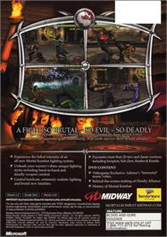 Box back cover for Mortal Kombat: Deadly Alliance on the Microsoft Xbox.