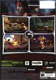 Box back cover for Mortal Kombat: Shaolin Monks on the Microsoft Xbox.