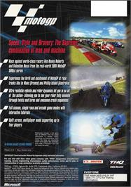 Box back cover for MotoGP: Ultimate Racing Technology 3 on the Microsoft Xbox.