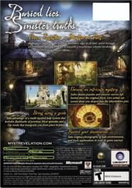 Box back cover for Myst IV: Revelation on the Microsoft Xbox.