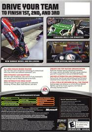 Box back cover for NASCAR 06: Total Team Control on the Microsoft Xbox.