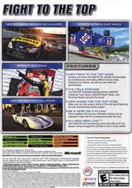 Box back cover for NASCAR 2005: Chase for the Cup on the Microsoft Xbox.