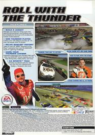 Box back cover for NASCAR Thunder 2003 on the Microsoft Xbox.