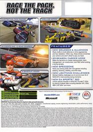 Box back cover for NASCAR Thunder 2004 on the Microsoft Xbox.