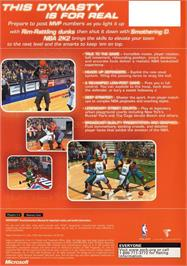 Box back cover for NBA 2K2 on the Microsoft Xbox.
