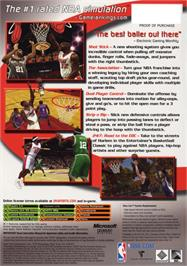 Box back cover for NBA 2K6 on the Microsoft Xbox.