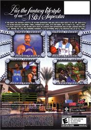 Box back cover for NBA Ballers: Phenom on the Microsoft Xbox.