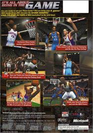 Box back cover for NBA Inside Drive 2002 on the Microsoft Xbox.