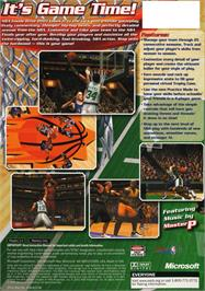 Box back cover for NBA Inside Drive 2003 on the Microsoft Xbox.