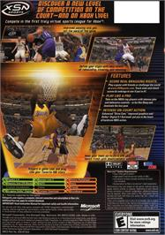 Box back cover for NBA Inside Drive 2004 on the Microsoft Xbox.