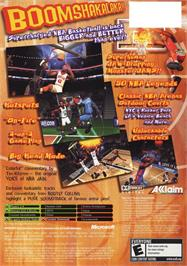 Box back cover for NBA Jam on the Microsoft Xbox.