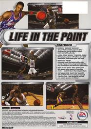 Box back cover for NBA Live 2002 on the Microsoft Xbox.
