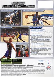 Box back cover for NBA Live 2004 on the Microsoft Xbox.