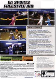Box back cover for NBA Live 2005 on the Microsoft Xbox.
