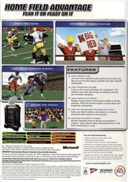 Box back cover for NCAA Football 2005 on the Microsoft Xbox.