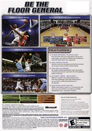 Box back cover for NCAA March Madness 2005 on the Microsoft Xbox.