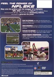 Box back cover for NFL 2K2 on the Microsoft Xbox.