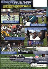 Box back cover for NFL Fever 2002 on the Microsoft Xbox.