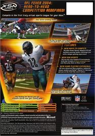 Box back cover for NFL Fever 2004 on the Microsoft Xbox.