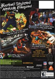Box back cover for NFL Street on the Microsoft Xbox.