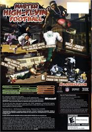 Box back cover for NFL Street 2 on the Microsoft Xbox.