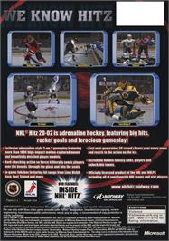 Box back cover for NHL Hitz 20-02 on the Microsoft Xbox.
