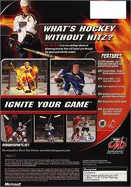 Box back cover for NHL Hitz 20-03 on the Microsoft Xbox.
