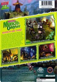 Box back cover for Oddworld: Munch's Oddysee on the Microsoft Xbox.
