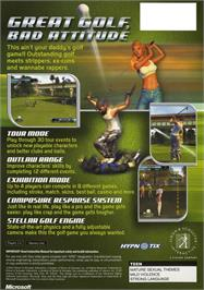 Box back cover for Outlaw Golf: Holiday Golf on the Microsoft Xbox.