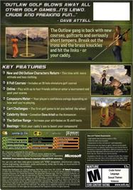 Box back cover for Outlaw Golf 2 on the Microsoft Xbox.
