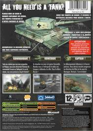 Box back cover for Panzer Elite Action: Fields of Glory on the Microsoft Xbox.