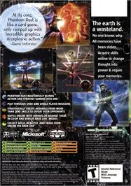 Box back cover for Phantom Dust on the Microsoft Xbox.