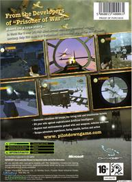Box back cover for Pilot Down: Behind Enemy Lines on the Microsoft Xbox.