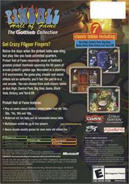 Box back cover for Pinball Hall of Fame: The Gottlieb Collection on the Microsoft Xbox.