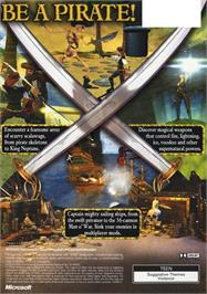 Box back cover for Pirates: The Legend of Black Kat on the Microsoft Xbox.