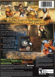 Box back cover for Prince of Persia: The Sands of Time on the Microsoft Xbox.