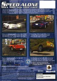 Box back cover for Project Gotham Racing on the Microsoft Xbox.