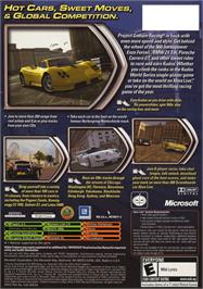 Box back cover for Project Gotham Racing 2 on the Microsoft Xbox.
