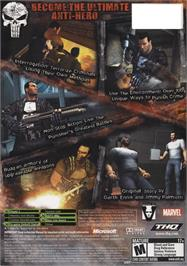 Box back cover for Punisher, The on the Microsoft Xbox.